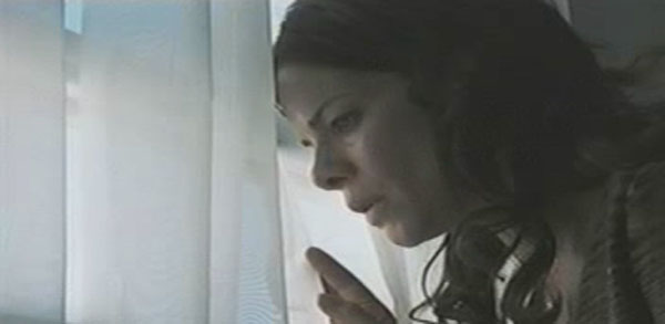 Celeste Boyle looking out of the window