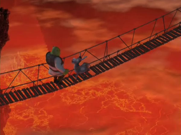 Bridge over the lava
